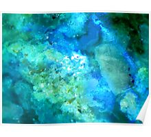 Texture In Blue And Green Poster