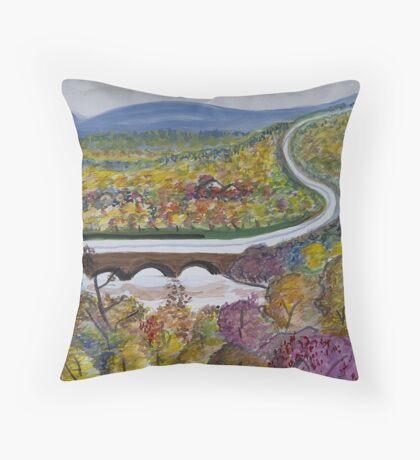 Free Bridge Fall Throw Pillow