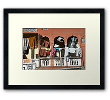 Indian Laundry Day Framed Print