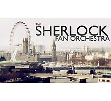 The Sherlock Fan Orchestra (Black Text) Photographic Print