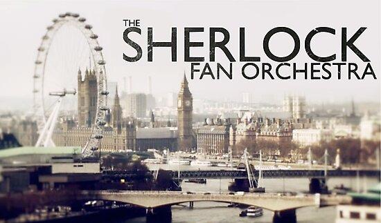 The Sherlock Fan Orchestra (Black Text) by SFOShirts
