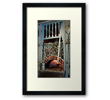 Glowing Open Hearth Framed Print