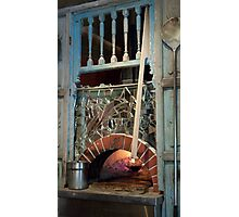 Glowing Open Hearth Photographic Print
