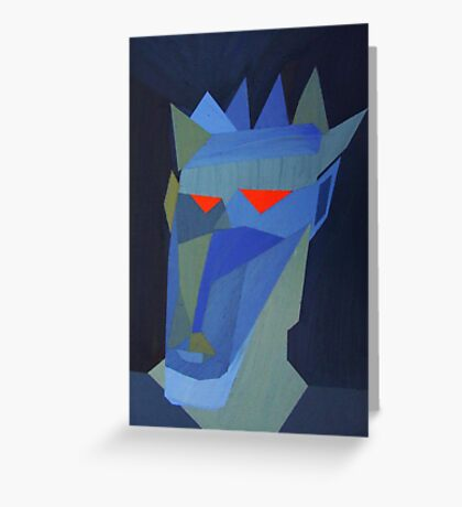 Expressionist Painting Greeting Card