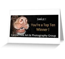 Canine Fine Art & Photography Top Ten Banner Greeting Card