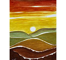 Abstract Sunset Photographic Print