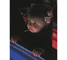 baby in the bleachers Photographic Print
