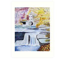 Mill Stream Art Print