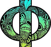 Phi Letter Doodle by trendysticks