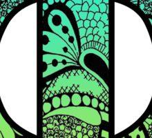 Phi Letter Doodle Sticker