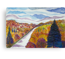 October Shadows Canvas Print