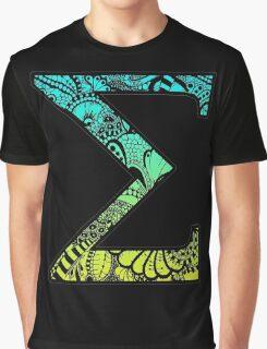 Sigma Letter Doodle Graphic T-Shirt