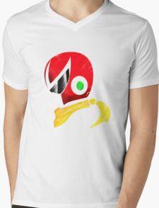 Protoman Helmet Shirt Mens V-Neck T-Shirt
