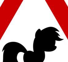 Pony Traffic Sign - Triangular Sticker