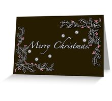 Black Christmas Greeting Card