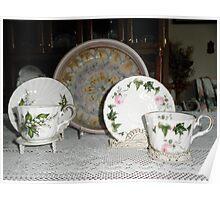 Beautiful China Tea cups Poster