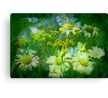 Painting the garden Canvas Print