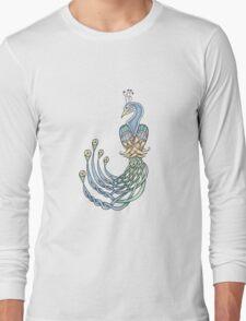 Celtic Peacock Long Sleeve T-Shirt