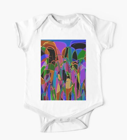 1009 Abstract Thought One Piece - Short Sleeve