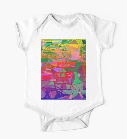 1021 Abstract Thought One Piece - Short Sleeve