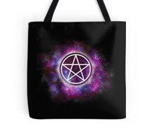 Wiccan Galaxy Pentagram Tote Bag
