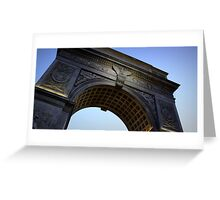 Washington Square Park Arch - Angular Crop Greeting Card