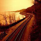 Train Tracks by the Hudson River - Angular Crop by Amanda Vontobel Photography