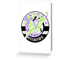 WIZARDS WHITE Greeting Card