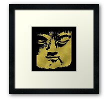 In the Shadow of the Golden Buddha Framed Print