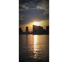 Sunset Over Hudson River - Angular Crop Photographic Print