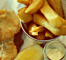 traditional fish and chips - absolutely yummy by Gregoria  Gregoriou Crowe