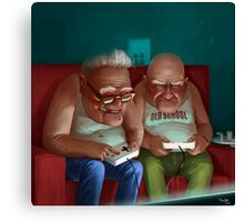 Old Gamers Canvas Print