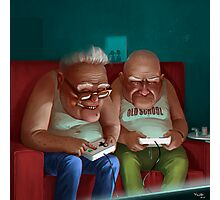 Old Gamers Photographic Print