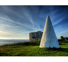 Navigation marker & Fort Tourgis on Alderney Photographic Print
