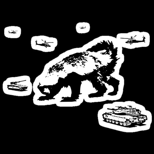 Honey Badger Zilla by jezkemp