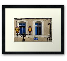 Yellow Blue Framed Print