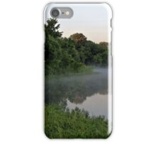 Morning Mist above Lake Pickens iPhone Case/Skin