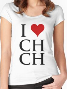 I Love Christchurch Women's Fitted Scoop T-Shirt