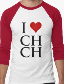 I Love Christchurch Men's Baseball ¾ T-Shirt