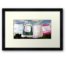 Life of a Homemaker...a Story of Aprons Framed Print