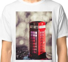 Abstract - Red Phone Box Classic T-Shirt