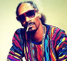Snoop Dogg Smoking a Blunt by Edward  Landstreet
