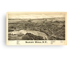 Panoramic Maps Sandy Hill NY Canvas Print