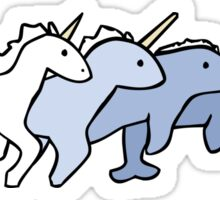 Unicorn Narwhal Evolution Sticker