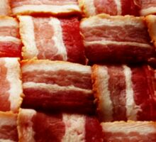 Bacon - Heart - Woven Strips Sticker