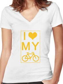 I love my Bike Women's Fitted V-Neck T-Shirt
