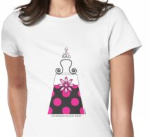 The Katy Bag / Pink Peppermint Polka Dot Parfait Womens Fitted T-Shirt