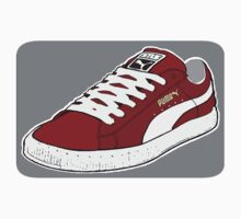 PUMA SE: BURGUNDY W/ WHITE LACES by SOL  SKETCHES™