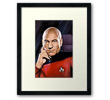 Captain Jean-Luc Picard Framed Print
