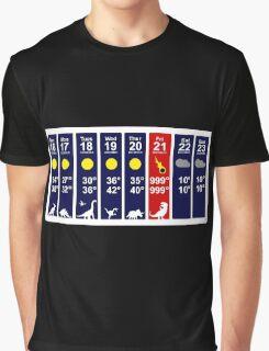 Dinosaur Extinction Weather Forecast Graphic T-Shirt